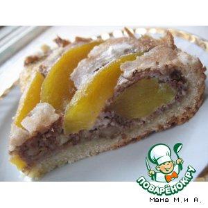 Персиковый пирог с ореховым кремом