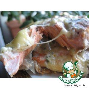Рыбное филе с сырными кармашками
