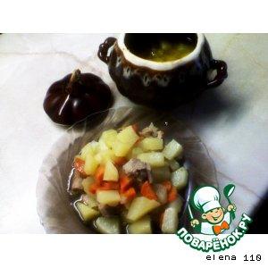 Жаркое из индейки с овощами в горшочке