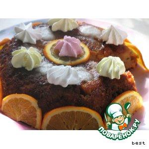 Английский пудинг  с фруктами и мороженым