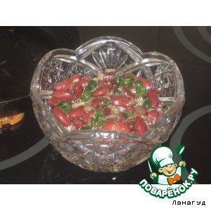 """Салат из фасоли """"Пикантный"""""""