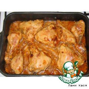 Цыпленок в томатно-соевом соусе