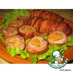 Рулеты из свинины в беконе