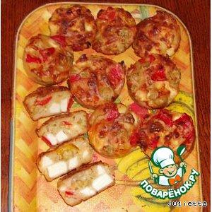 Маффины с паприкой, оливками и сыром