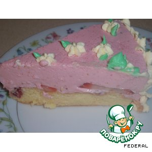 """Торт """"Kлубничная радость"""""""