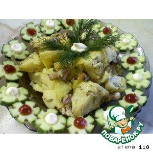 Картофель, запечeнный с беконом