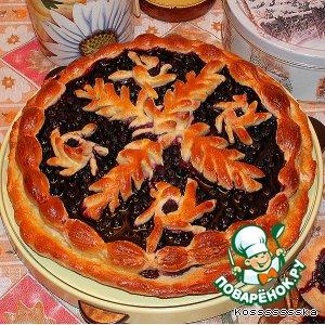 Пирог с черникой и ватрушки