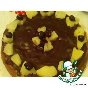 Кекс с ананасом и вишнями