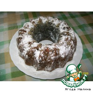 Орехово-маковый кекс с цукатами