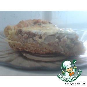 Рыбный пирог со сметанной заливкой