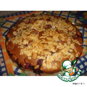 "Пирог-""болтушка"" с вишнями"
