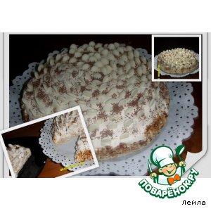 Нежный  сливочный  торт
