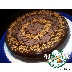 Торт шоколадно-медово-ореховый