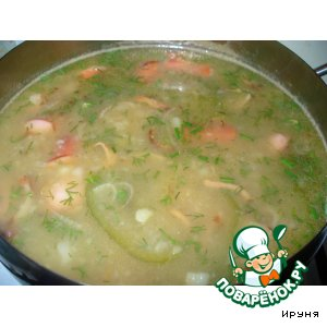 Картофельный суп с перцем