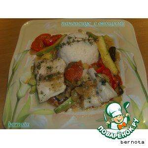 Пангасиус с овощами
