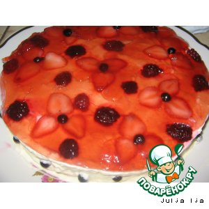 """Творожно-фруктовый торт """"Наслаждение"""""""