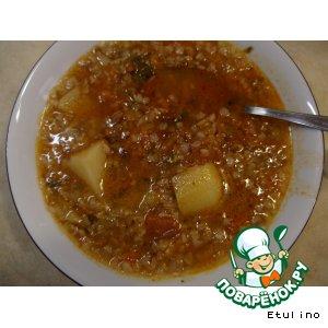 Суп гречнево-овощной