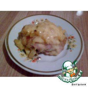 Куриные бедрышки в ананасах