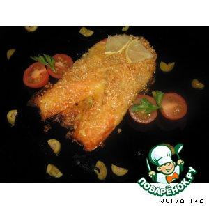 Сливочная форель с сырно-кунжутной корочкой