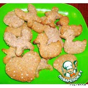 Печенье сдобное с отрубями, семечками подсолнуха и кунжута
