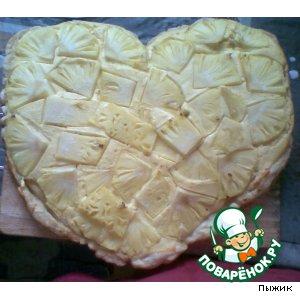 """Пирог  """"Творожно-ананасовое сердце"""""""