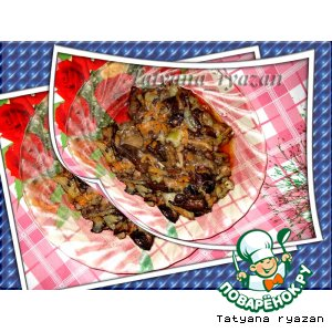 Тушеные грибы с кабачком
