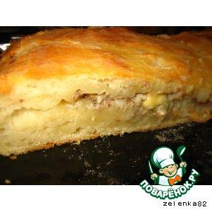 Пирог с тилапией и сайрой