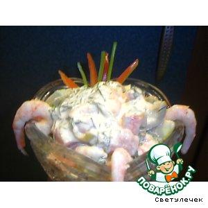 Креветочный салатик