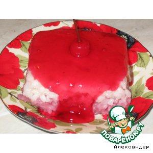 Рисовый пудинг двухцветный