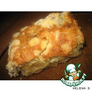 Пирог насыпной яблочный
