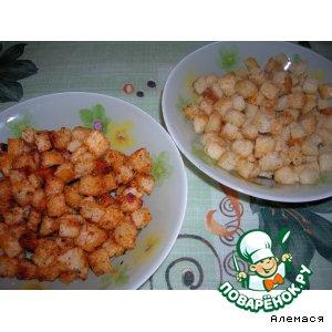 Сухарики с куриным и томатным вкусами
