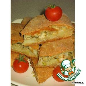 Пирог с пангасиусом и картофелем