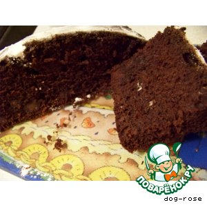 Шоколадно-винный кекс