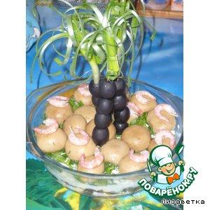 """Салат """"Весенний остров"""" с пальмами"""