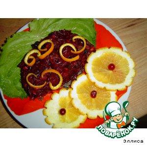 Десертный салатик со свеклой