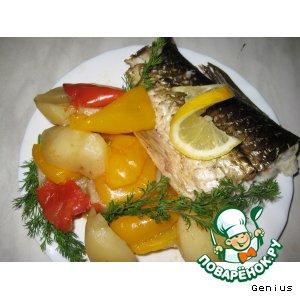 """Запеченая рыбка с овощами  """"Для себя Любимой... """""""