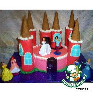 """Торт """"Замок для принцессы"""""""