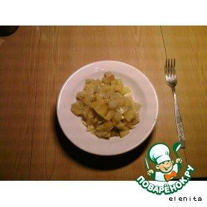 Тыква с картофелем и луком