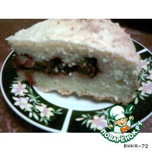 Творожный пирог с вишнями