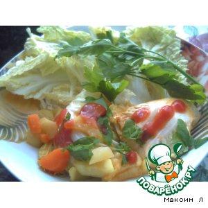 Рулетики с овощами