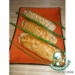 """Трубочки"" с овощами и морепродуктами"