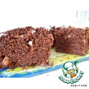 Шоколадный кекс с вареньем-2