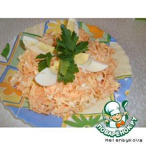 Салат из редьки, моркови и яйца
