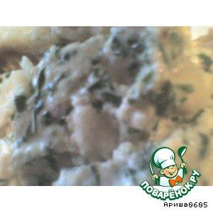 Рыба под кинзо-ореховым соусом