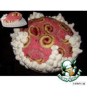 """Торт """"Малина со сливками"""""""