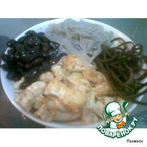 Тофу с фунчозой в китайском стиле