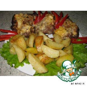 """""""Мясное письмецо"""" с картофелем"""