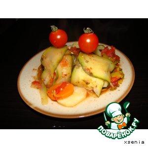 Цукини фаршированные овощами
