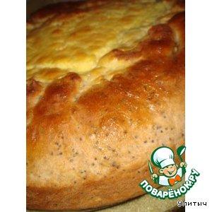 Пирог из дрожжевого теста с маскарпоне