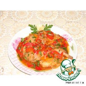 Кролик в томатном соке с овощами